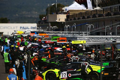 Blancpain Endurance Am Cup car hits a six at Paul Ricard !